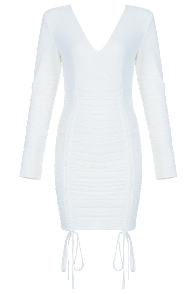 Elva Bandage Dress-White
