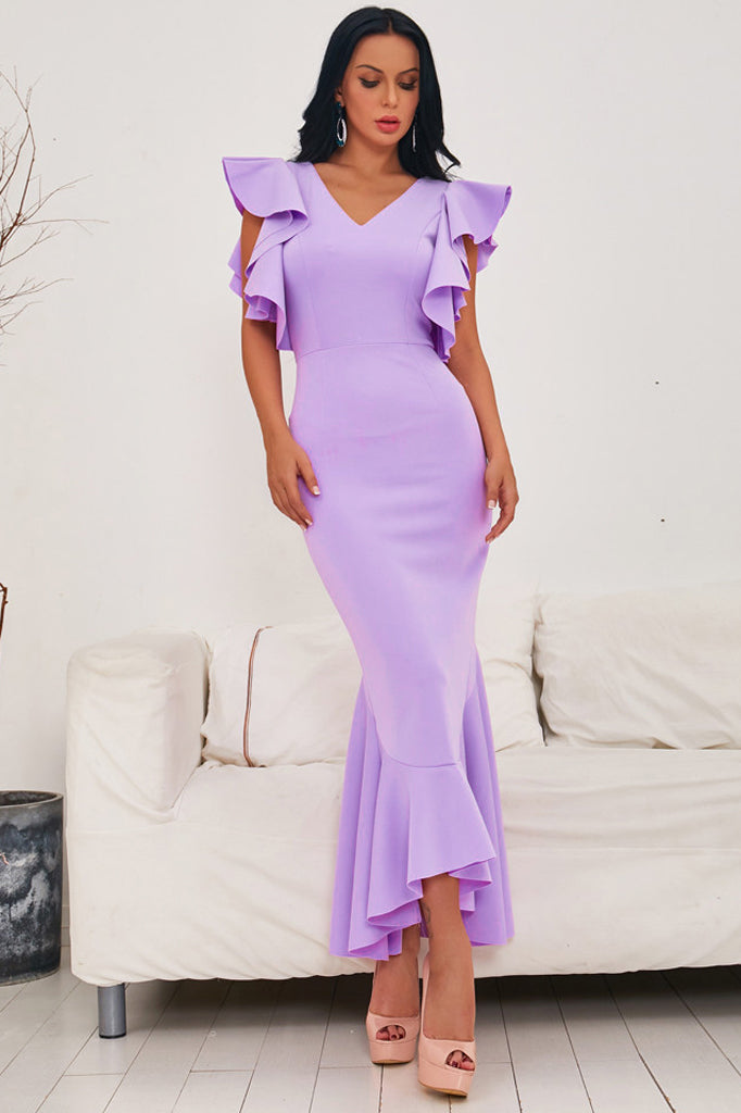 BH5951 Bodycon Dress-Purple