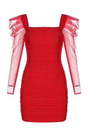 Bellezza Bandage Dress | Red