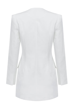 Juniper Blazer Dress  | White