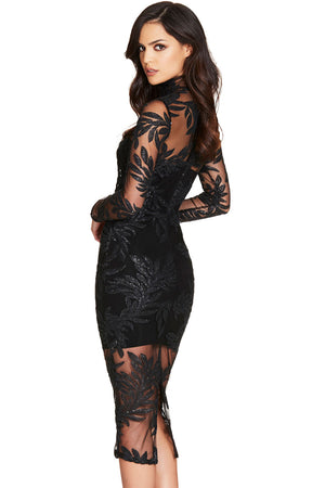 Sheila Bandage Dress-Black