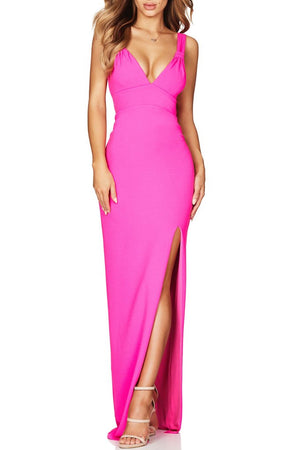 Delia Backless Gown - Rose Red