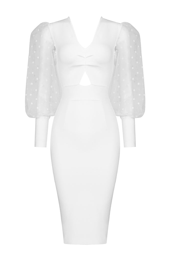 Adelaide Bandage Dress | White