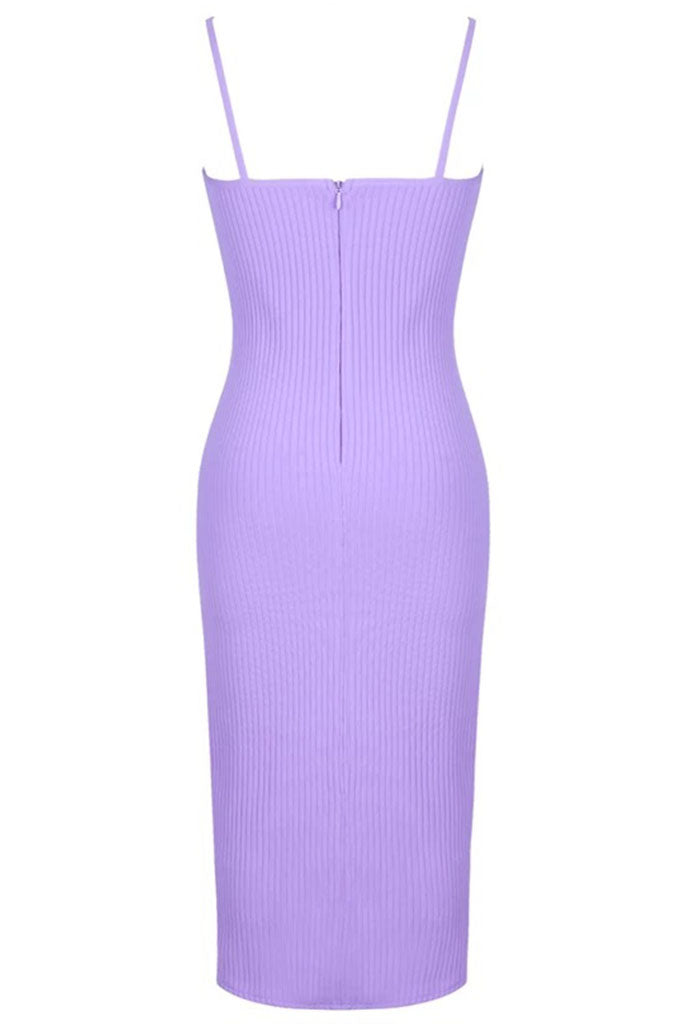 Shaylin Midi Jaquard Dress - Lilac