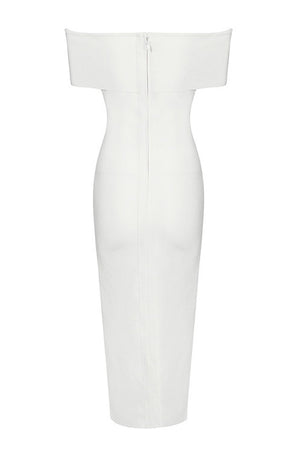 H1715-1 Bandage Dress- White