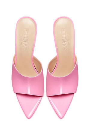 Gianni Patent Mule - Barbie Pink