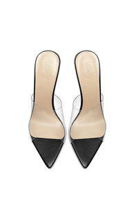 Gigi PVC & Steel Mule - Black