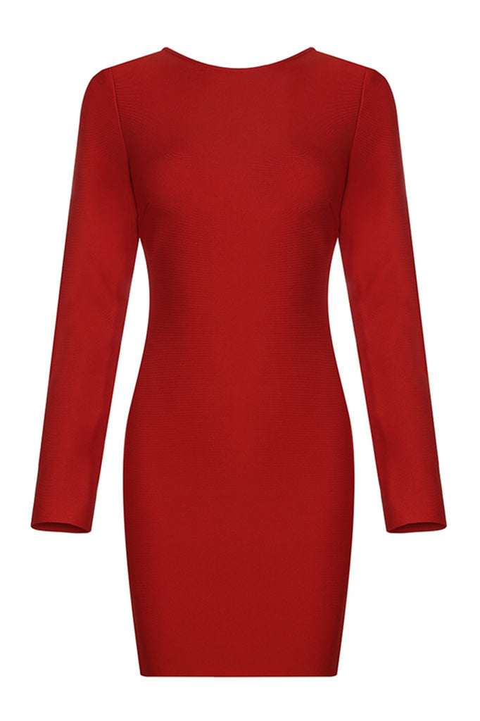 Christina Bandage Dress-Red