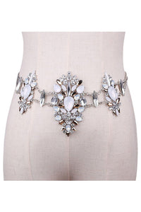 Embellished Jeweled Belt - Casa Blanca