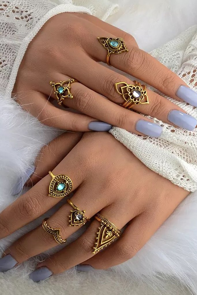 Castali Ring Set - Gold