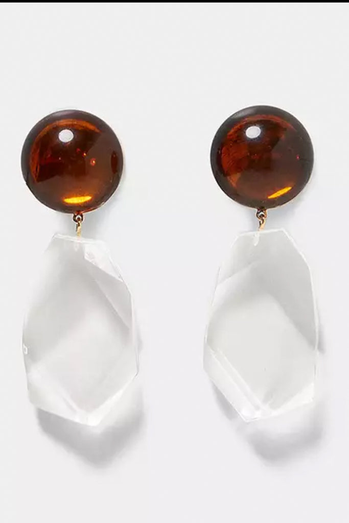 Two Tone Lucite Earring