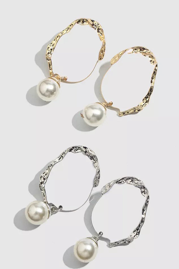 Lucite Pearl Earrings