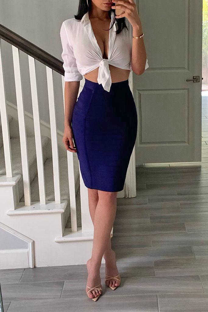 H1863 Bandage Skirt - Royal