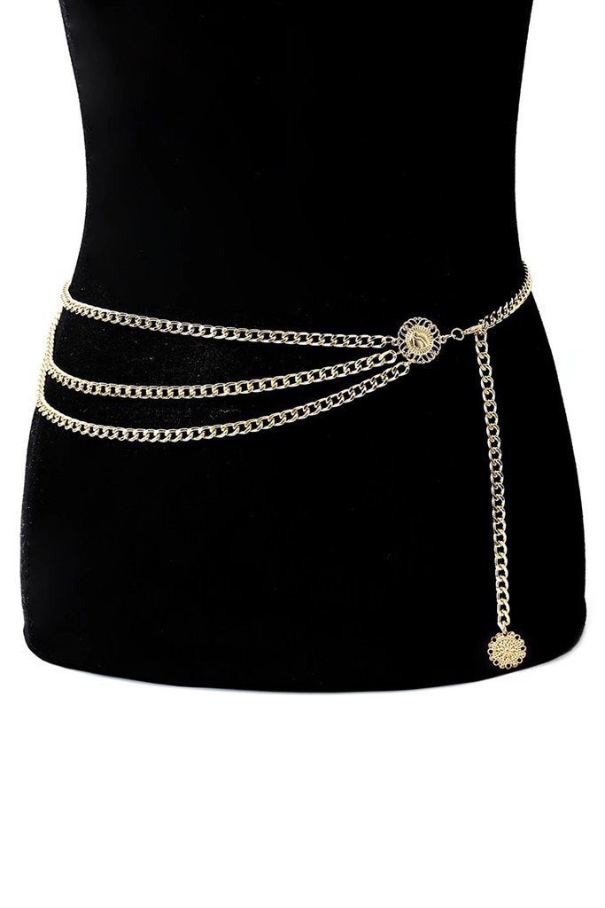 Chain Gang Belt - Gold