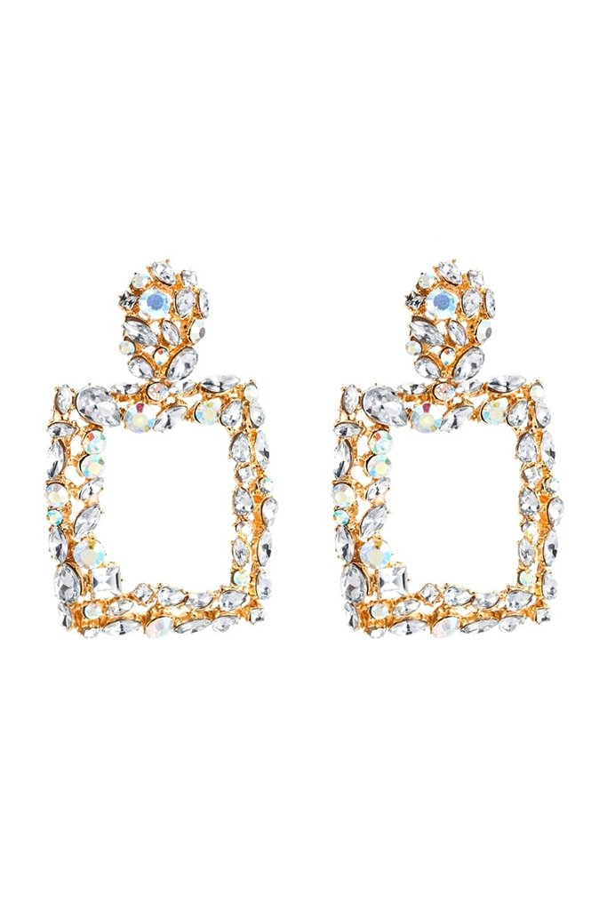 S61 Crystal Earring - Clear