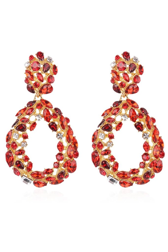 S56 Crystal Earring - Red