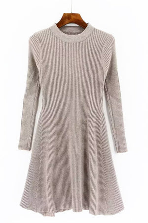 Knit A Line Dress - Oatmeal