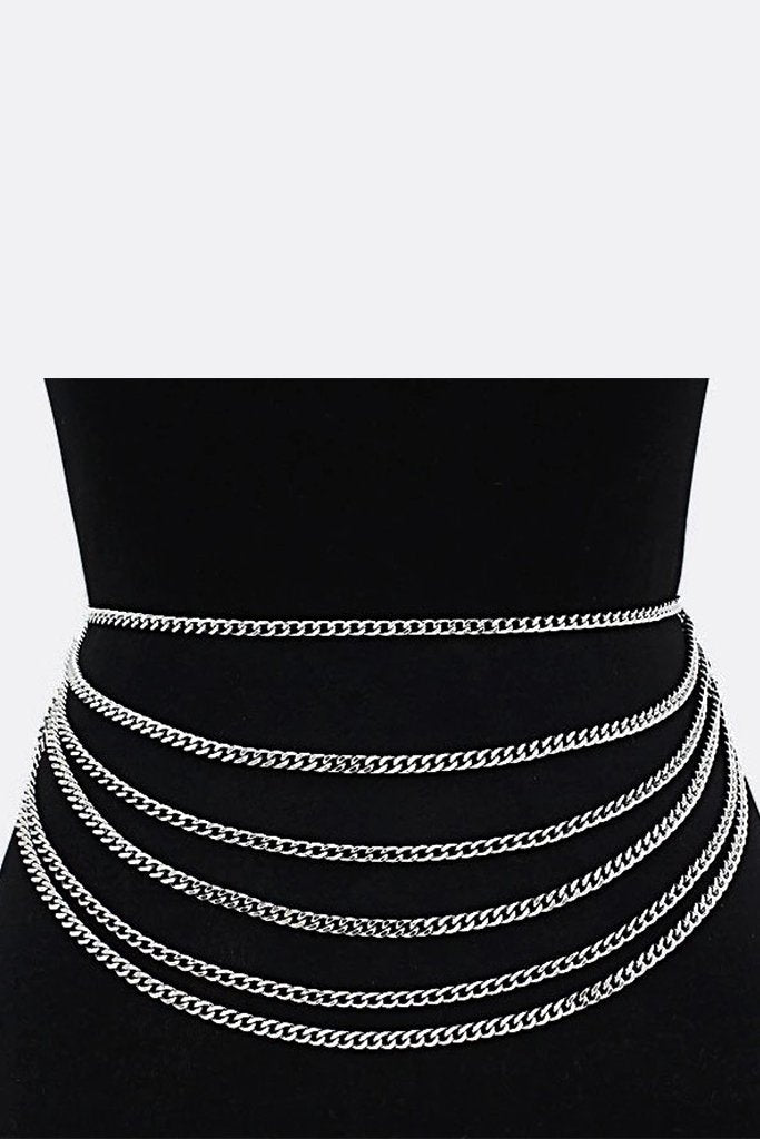 Draped Chain Belt - Silver