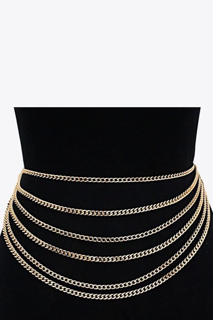 Draped Chain Belt - Gold