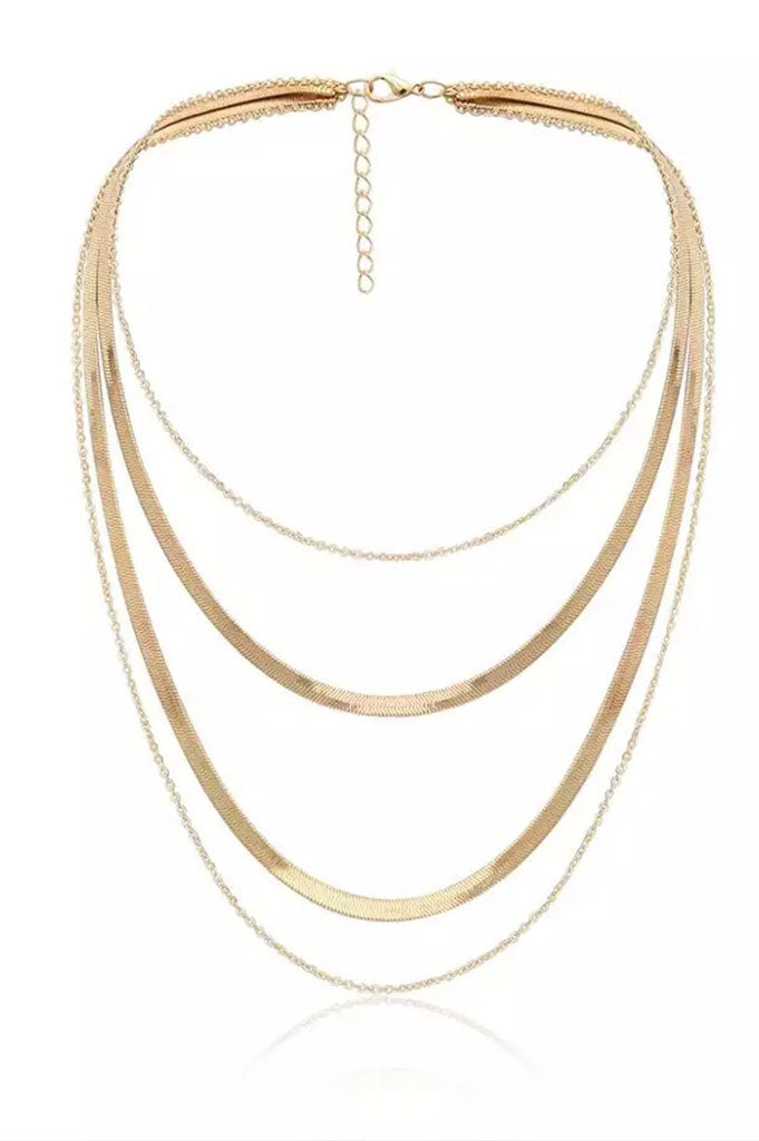 Snake Bone Layered Necklace