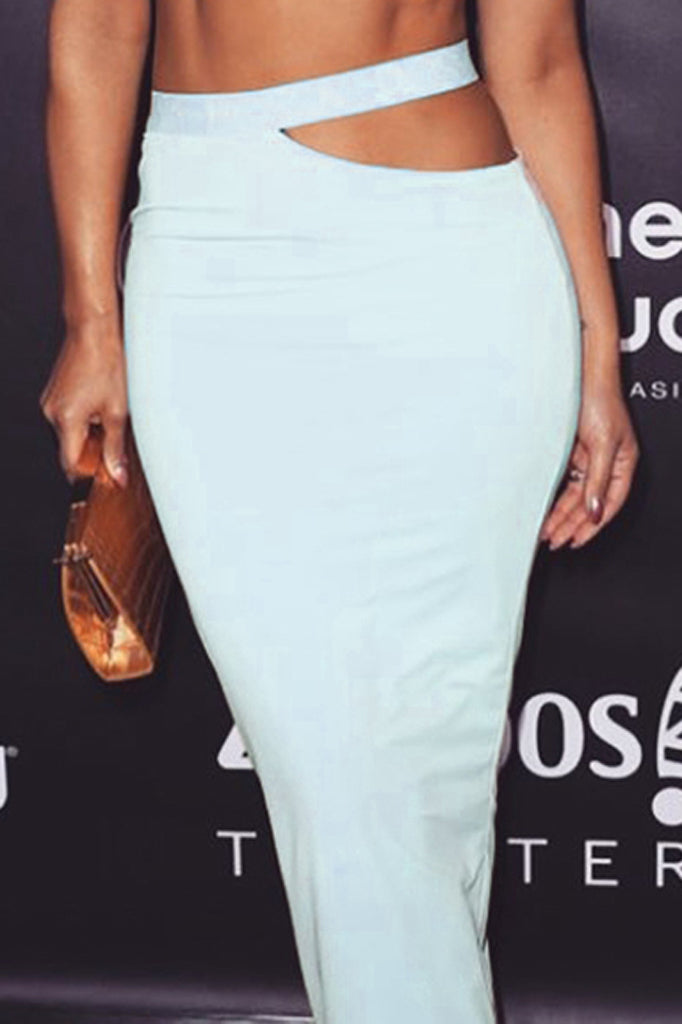 H7046 Bandage Skirt-White