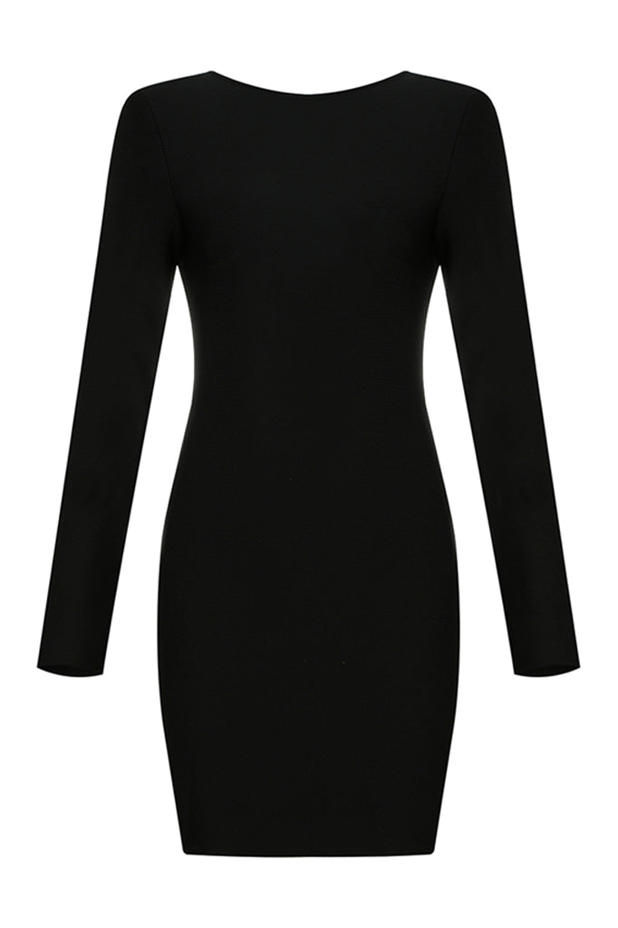 Christina Bandage Dress-Black