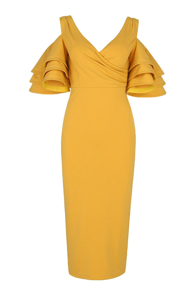 BH5952 Bodycon Dress- Yellow