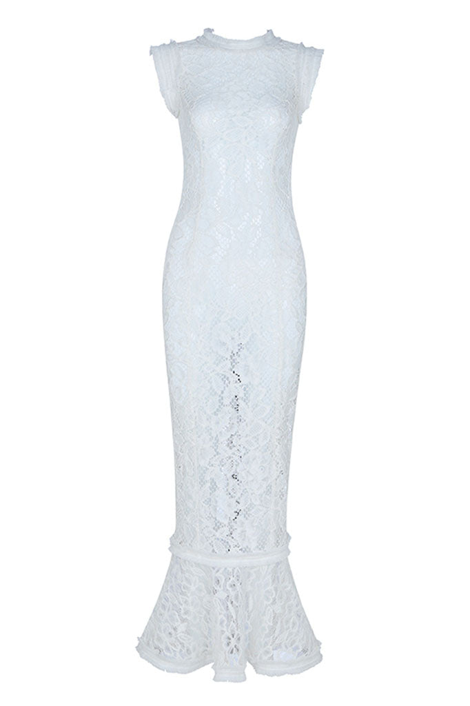 BH6224 Lace Dress- White