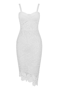 Shawna Midi Dress  | White