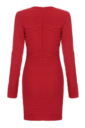 Elva Bandage Dress-Red