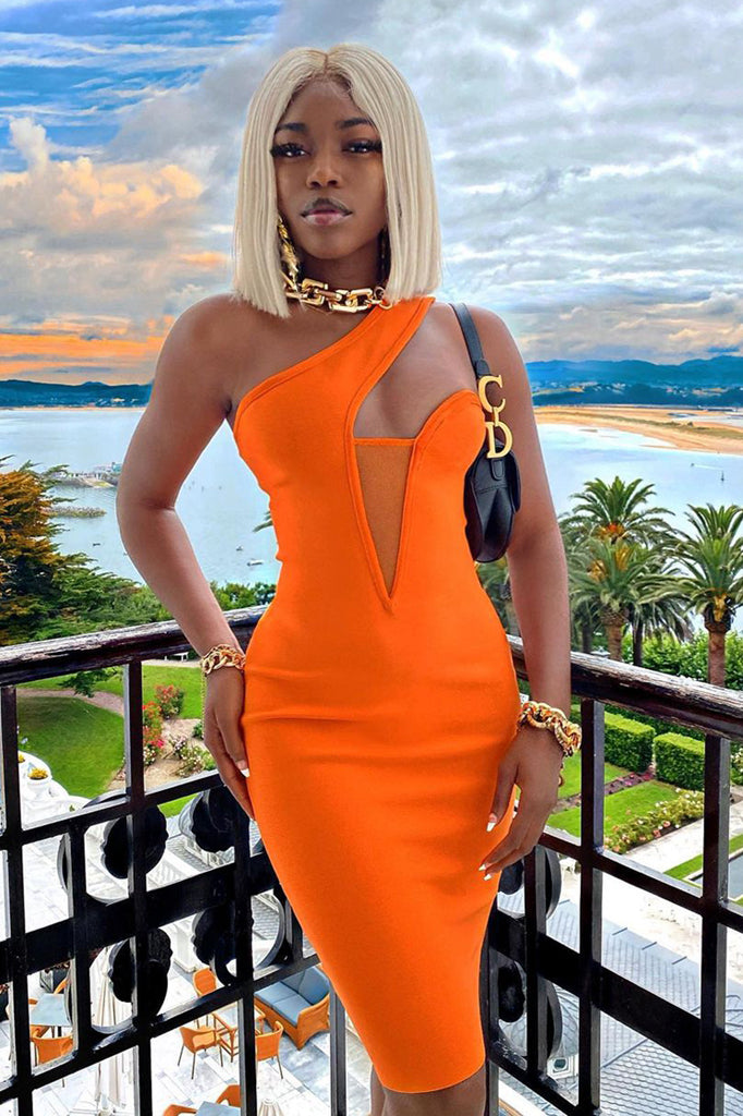 Alicia Mini Dress | Orange