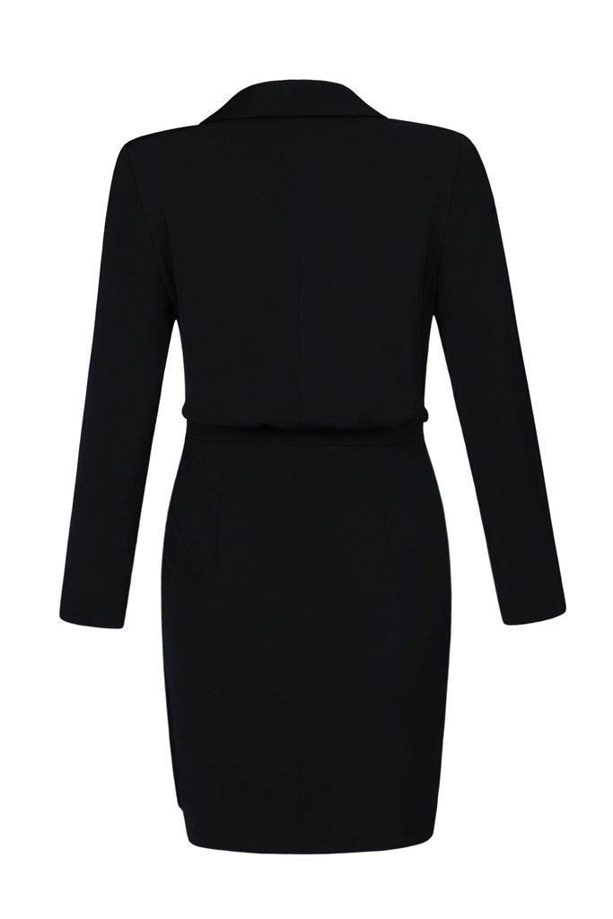 Betsy Ruched Dress - Black
