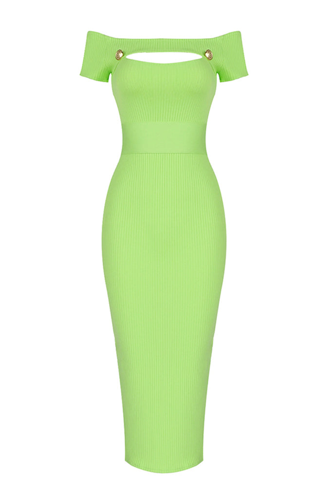 Zelda Midi Dress | Green