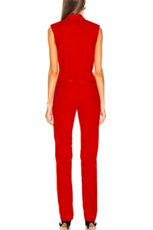 BH6417 Bodycon Jumpsuit-Red