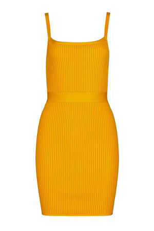 DH7056 Bandage Dress- Yellow