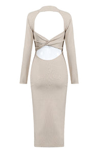 Rosalyn Bandage Dress-Apricot