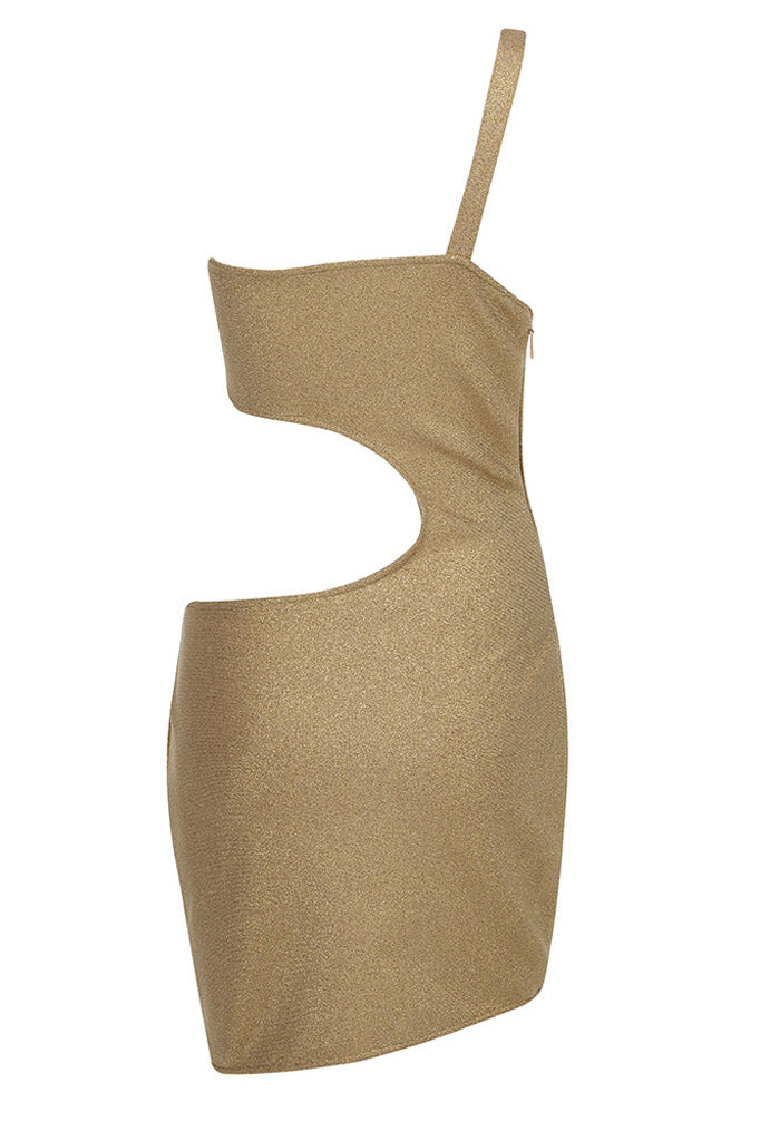 Aylin Mini Dress | Gold