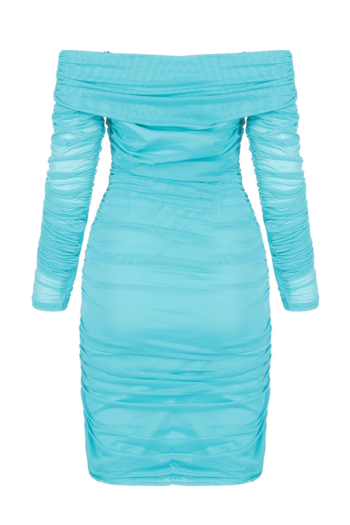 Riley Off The Shoulder Dress-Mint green