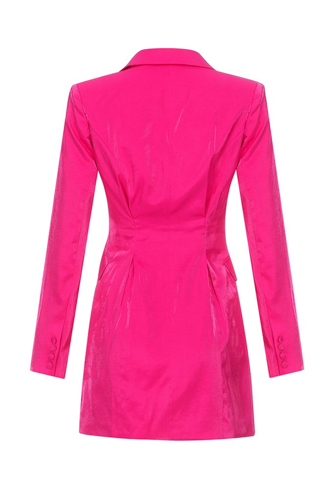 Doris Blazer Dress-Rose Red