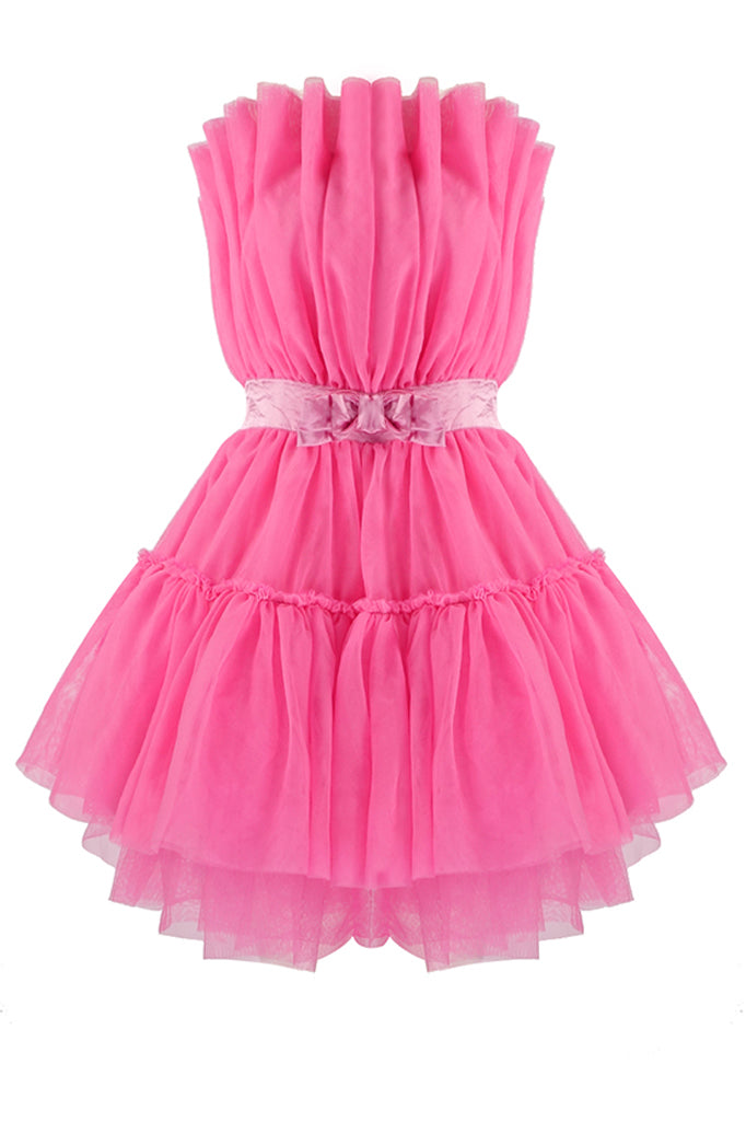 Aaliyah Strapless Mini Dress  | Pink