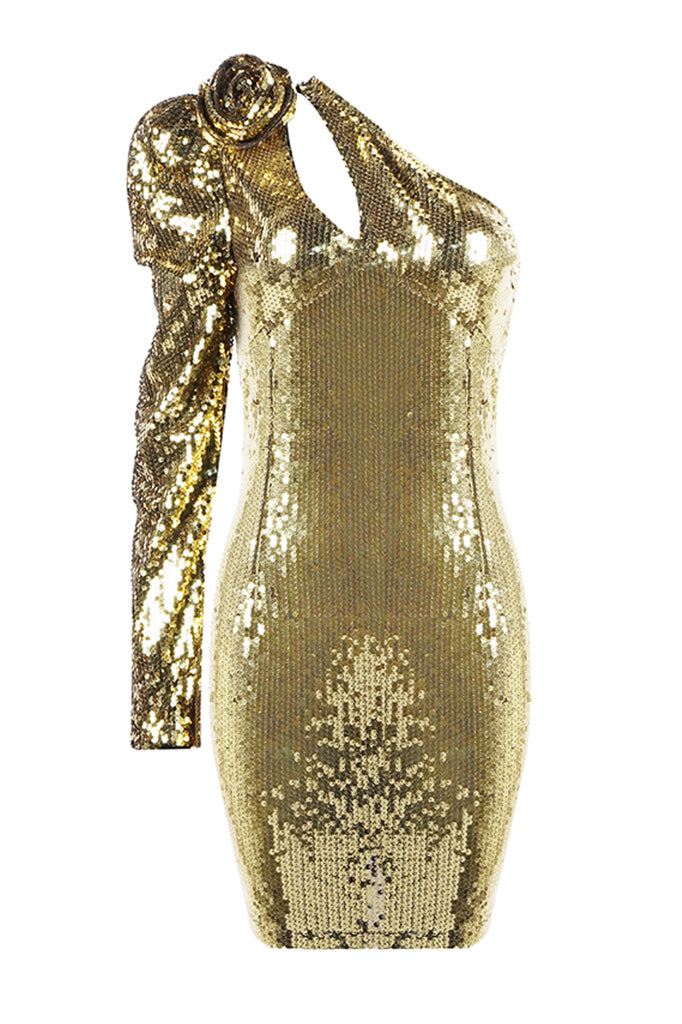 Carly Mini Dress | Gold