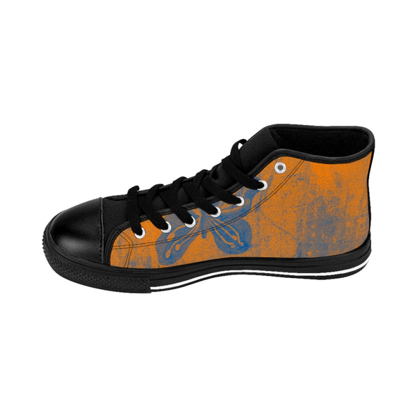 Butterfly & Orange ~ High-top Sneakers