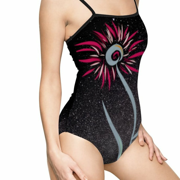 MiDNiGHT FLOWER  One-piece Swimsuit