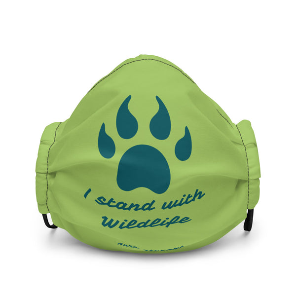 I stand with Wildlife ~ Green Face mask