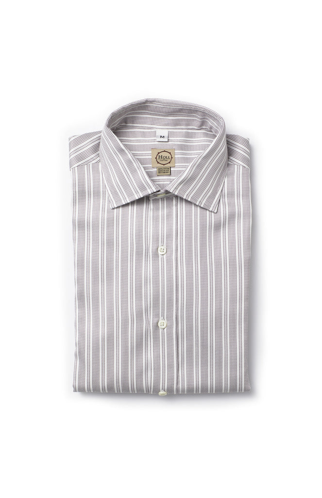 Lilac Stripe Button Down Shirt