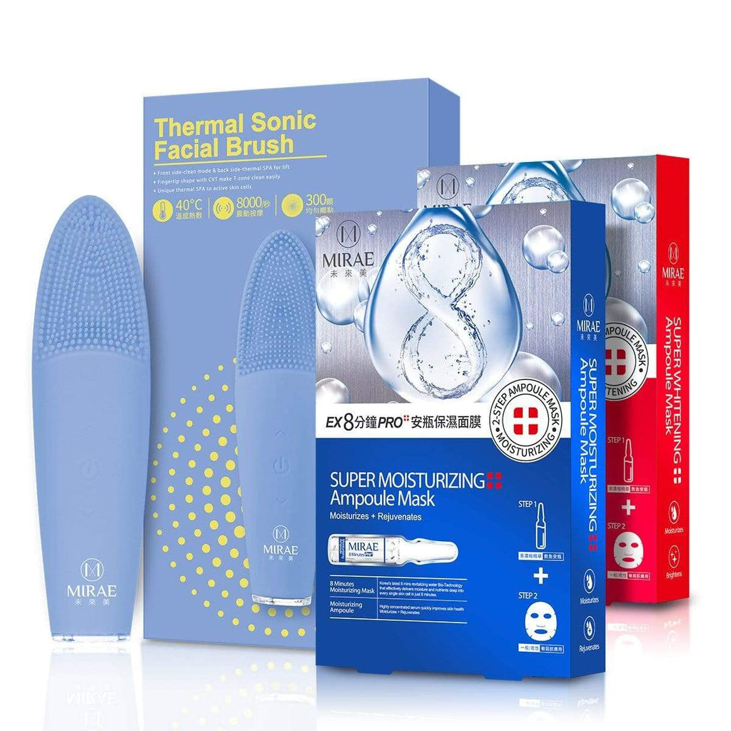Thermal Sonic Facial Brush+Super Ampoule Mask( Moisturizing+Brightening)