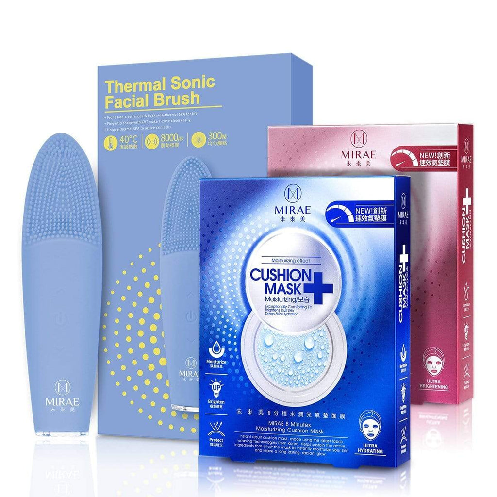 Thermal Sonic Facial Brush+Cushion Mask( Moisturizing+Brightening) - iQueen | Multi Beauty Brand | ช้อปปิ้งดี๊ดี ไอควีนเก้าเก้า