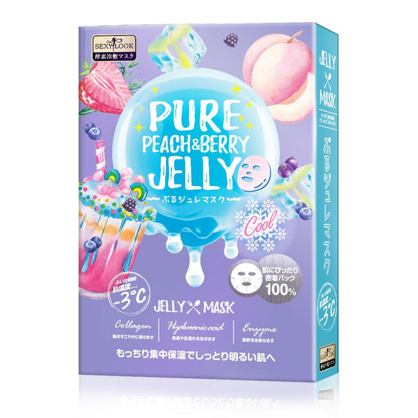SEXYLOOK PURE PEACH & BERRY BRIGHTENING COOL JELLY MASK (3PCS/BOX) - iQueen | Multi Beauty Brand | ช้อปปิ้งดี๊ดี ไอควีนเก้าเก้า