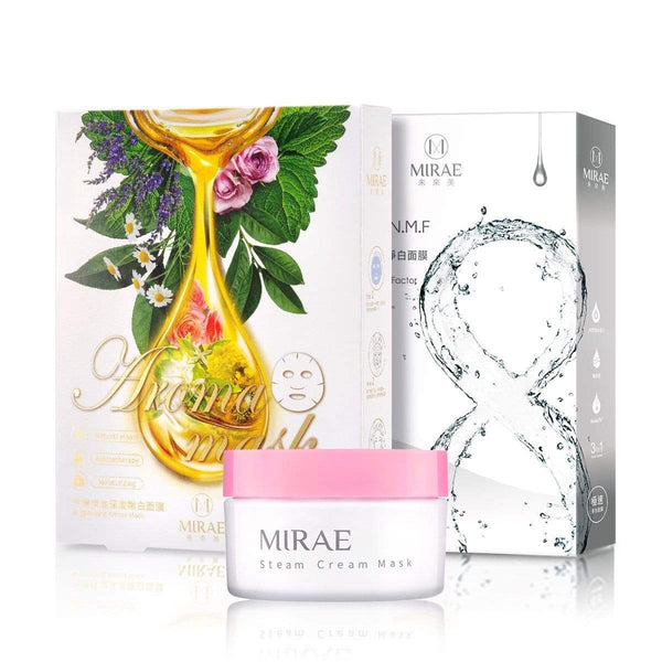【MIRAE】 EX8 Minutes Brightening Mask + Aroma Brightening Mask+ Brightening Steam Cream