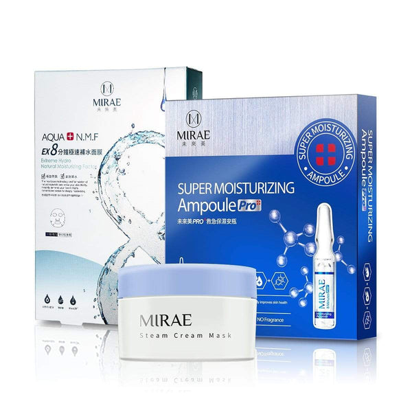 【Pre Sale】Super Moisturizing Ampoule +Moisturizing Steam Cream +EX8 Minutes Hydrating Mask